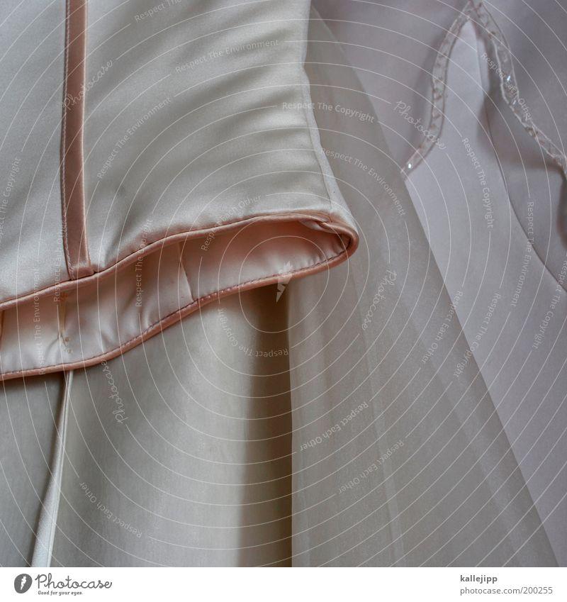 rosa schön weiß Stil Mode glänzend authentisch Bekleidung Kultur Romantik Kleid Kitsch rein Stoff Verliebtheit Rock reich