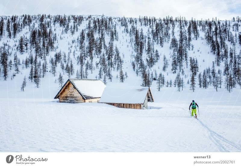 Skitour Hochmölbinghütte, Ennstal, Steiermark, Österreich, Alpen Wintersport Skier Mensch maskulin 1 Umwelt Natur Landschaft Schnee Berge u. Gebirge Hütte