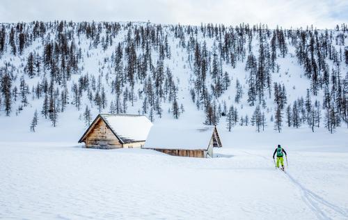 Skitour Hochmölbinghütte, Ennstal, Steiermark, Österreich, Alpen Mensch Natur weiß Landschaft Winter Berge u. Gebirge Umwelt Schnee Glück maskulin wandern