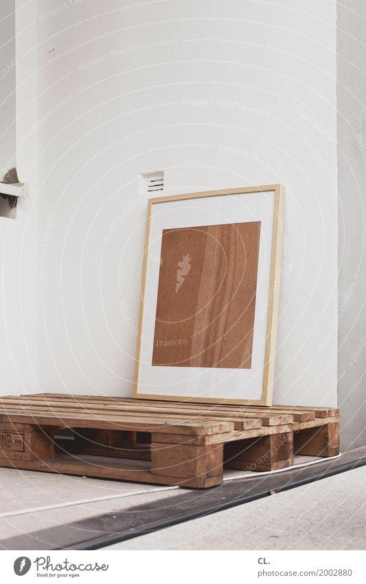 rahmen auf palette Häusliches Leben Renovieren Umzug (Wohnungswechsel) einrichten Innenarchitektur Kabel Mauer Wand Balkon Dekoration & Verzierung Bilderrahmen