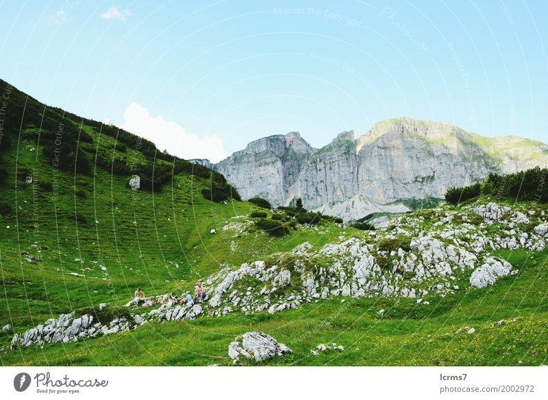 Hiking in Rofan mountain area Ferien & Urlaub & Reisen Sommer Natur retro Österreich rofan view Bundesland Tirol alps landscape blue sky austrian day scene
