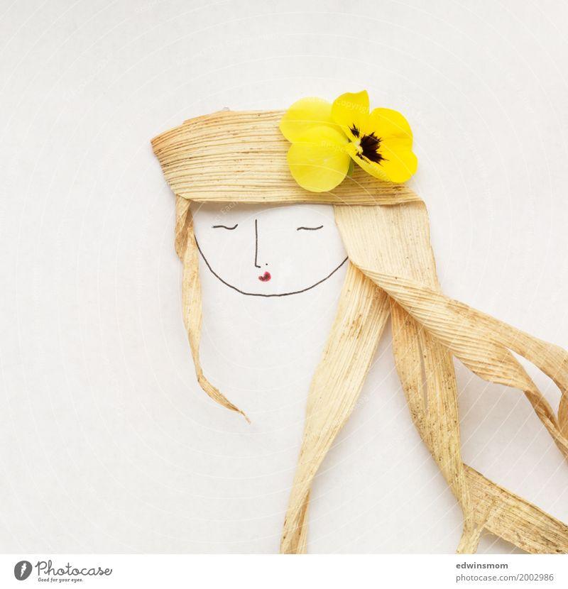 Flowerinherhair Natur Pflanze schön weiß Blume ruhig gelb Blüte feminin hell wild Freizeit & Hobby Dekoration & Verzierung Kreativität weich schlafen