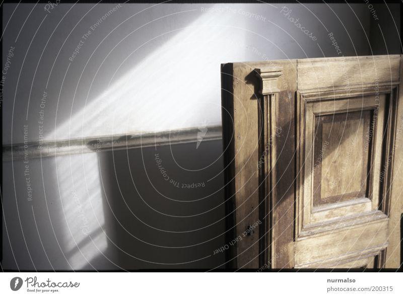 offene Tür schön alt Haus Wand braun Tür ästhetisch offen Dekoration & Verzierung einzigartig geheimnisvoll natürlich Eingang Flur Nostalgie Ornament