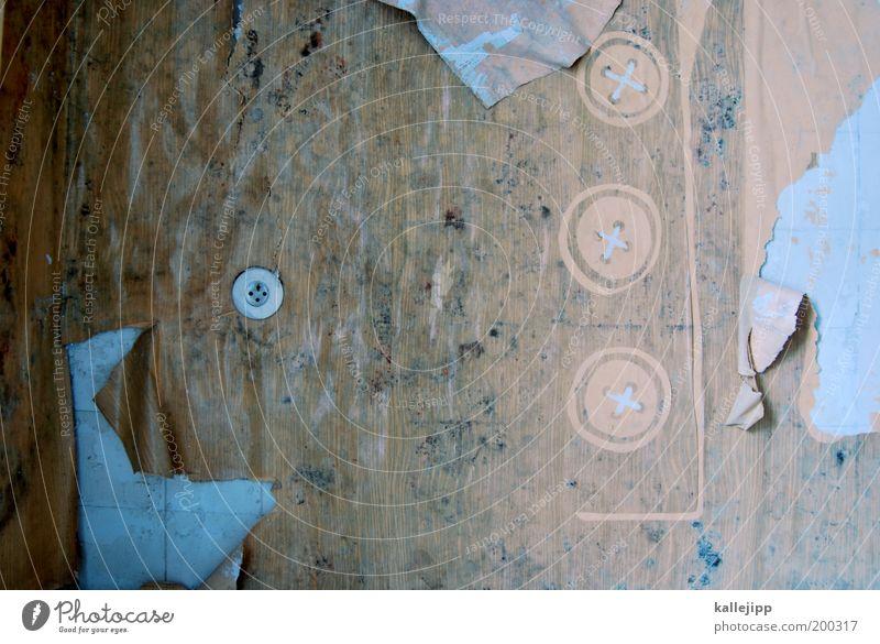 stille zuhörer alt Wohnung Häusliches Leben Innenarchitektur Tapete verfallen Verfall Renovieren Steckdose abblättern Technik & Technologie Wandmalereien