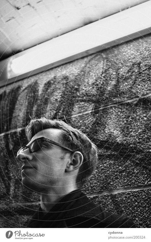 [HAL] Innehalten Mensch Mann Jugendliche ruhig Einsamkeit Leben Wand Freiheit Gefühle Stil Graffiti träumen Mauer Erwachsene Zeit Lifestyle