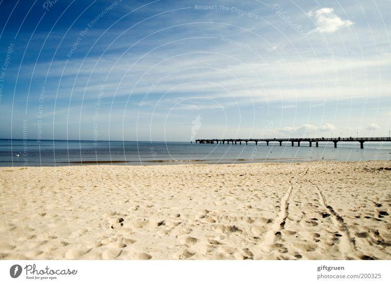 sonne, strand & meer Himmel Natur blau Wasser Ferien & Urlaub & Reisen Sommer Meer Strand Wolken Ferne Umwelt Landschaft Sand Küste Horizont Deutschland