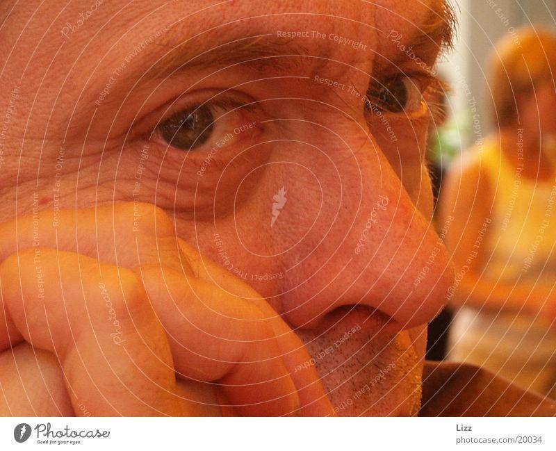 Gesichtsnahaufnahme Mensch Gesichtsausschnitt