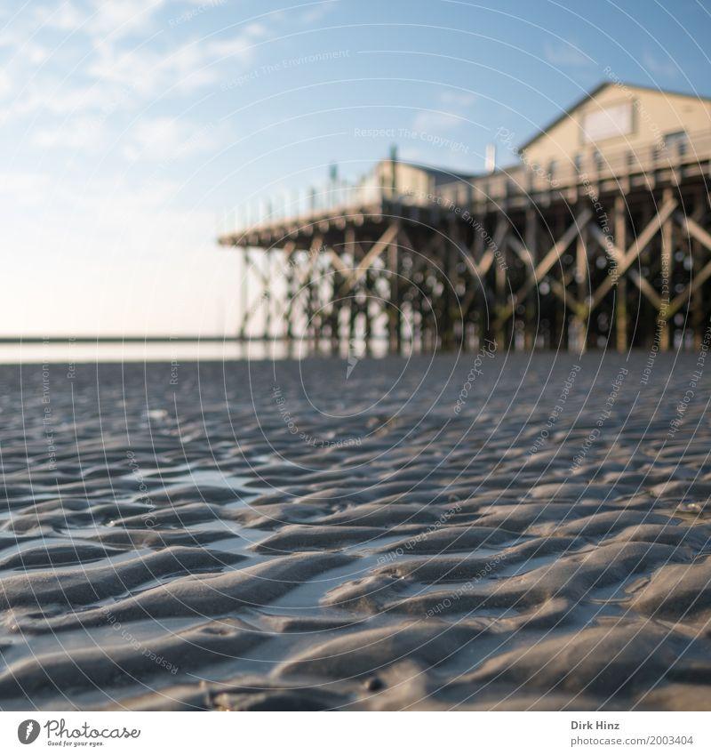 Wattenmeer in St. Peter Ording Erholung Kur Ferien & Urlaub & Reisen Tourismus Ausflug Ferne Freiheit Sonne Strand Meer Umwelt Natur Sand Schönes Wetter Küste