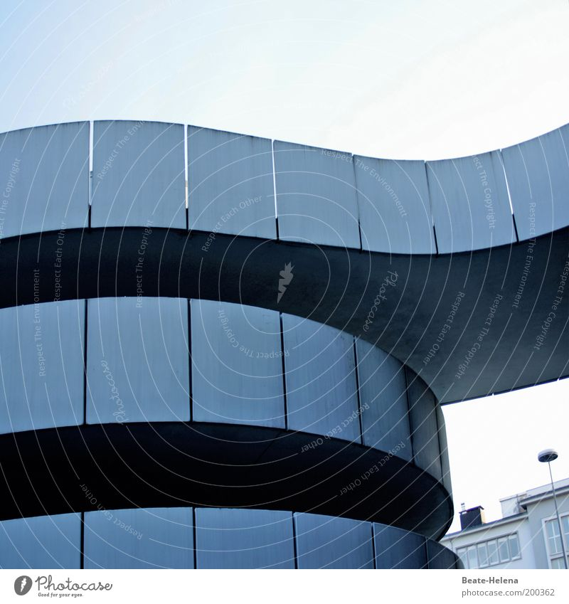 Alternative Stadtrundfahrt Architektur elegant Fassade Beton modern ästhetisch außergewöhnlich entdecken aufwärts Saarland Karriere Spirale Parkhaus Rampe