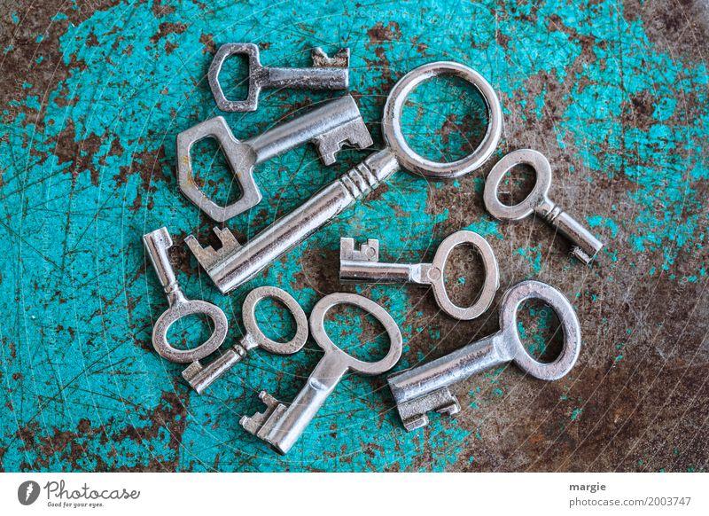 Schlüssel - Sortiment:  viele unterschiedliche Schlüssel Häusliches Leben Wohnung Hausbau Renovieren Umzug (Wohnungswechsel) einrichten Dienstleistungsgewerbe