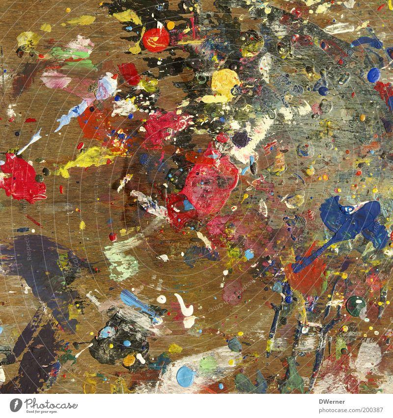 Farblehre II weiß rot gelb Stil Kunst dreckig Design modern einzigartig Gemälde Idee Fleck abstrakt Bildausschnitt Kunstwerk