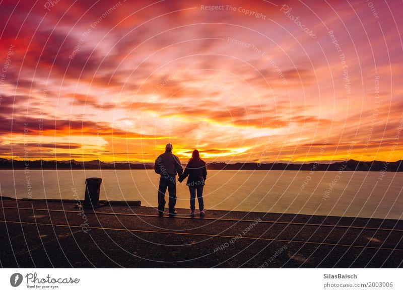 Romantischer Sonnenuntergang Lifestyle Freude Wellness Leben harmonisch Wohlgefühl Zufriedenheit Meditation Ferien & Urlaub & Reisen Ausflug Abenteuer Ferne