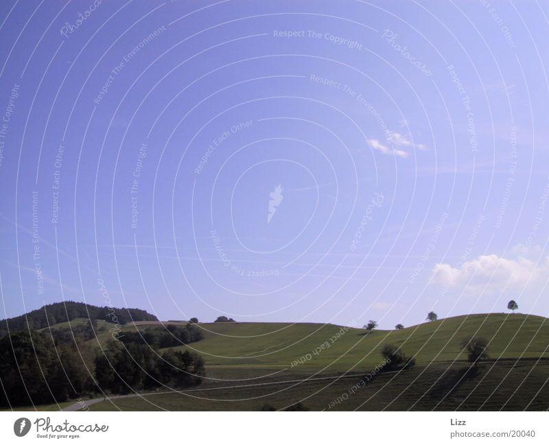 Landschaftsstille Himmel Baum Horizont Hügel