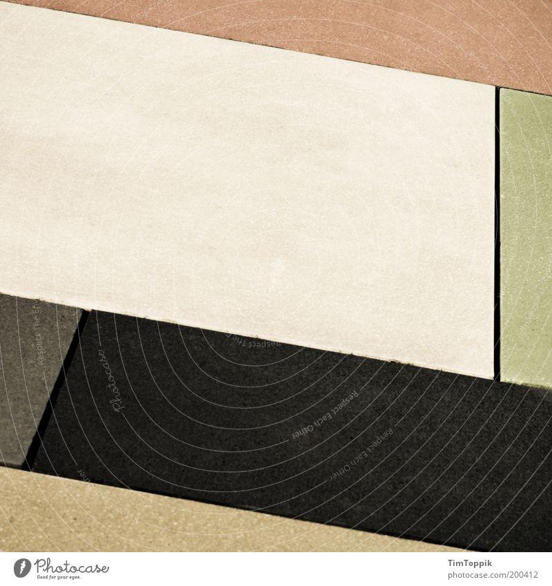 Street Geometry weiß schwarz Linie Ordnung Klarheit Bürgersteig deutlich Verkehrswege Fußweg Geometrie Pflastersteine Plattenbau übersichtlich reduziert