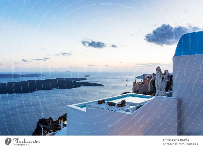 Firá Ferien & Urlaub & Reisen Sommer Sommerurlaub Haus Himmel Sonnenaufgang Sonnenuntergang Schönes Wetter Küste Meer Insel Fira Griechenland Europa Santorin