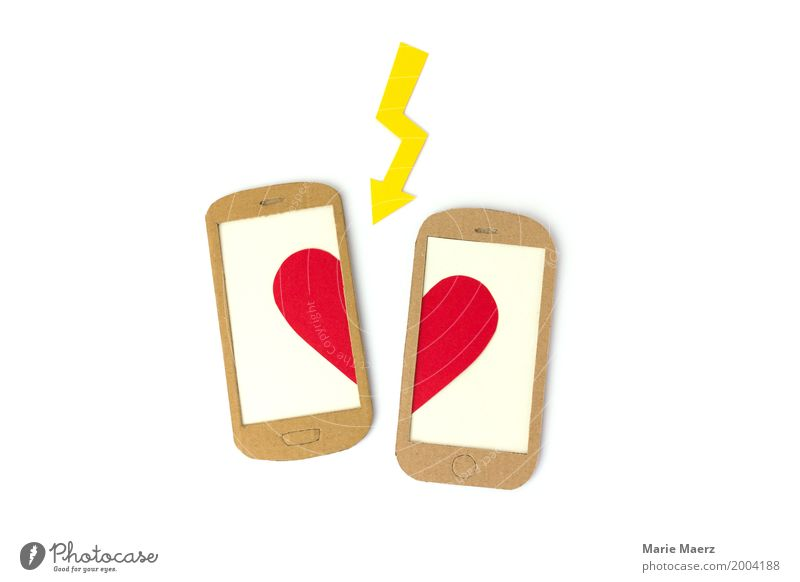 Schlussmachen Handy PDA Herz Konflikt & Streit Traurigkeit weinen frech trist Wut Liebeskummer Enttäuschung Eifersucht Misstrauen Liebesaffäre Trauer Trennung