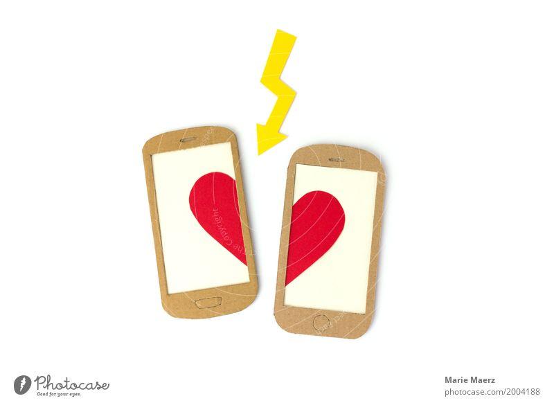 Schlussmachen Traurigkeit trist Herz Trauer Handy Wut Ende Konflikt & Streit Mobilität frech online PDA Trennung Liebeskummer weinen Enttäuschung