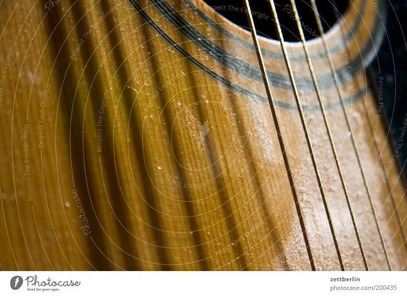 Sechs Saiten, sechs Schatten Musik Gitarre Musikinstrument akustisch Volksmusik Saiteninstrumente Zupfinstrumente