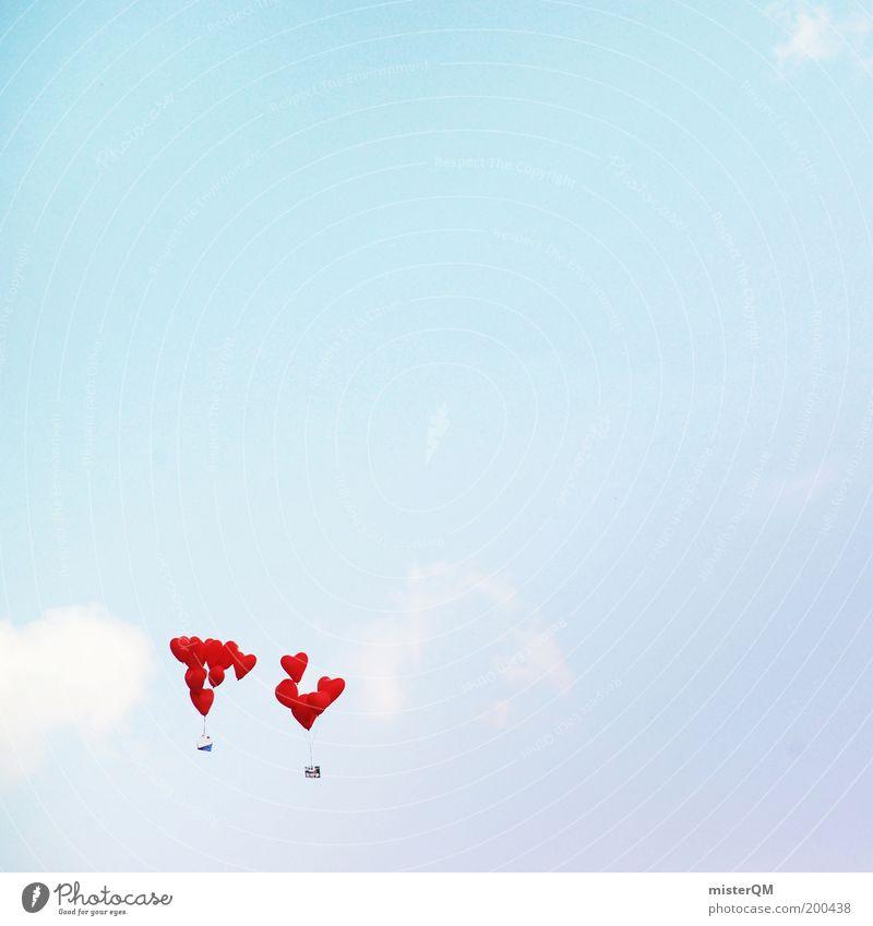 1001 Wishes. Himmel rot Liebe Luft Herz elegant Beginn Zukunft ästhetisch Dekoration & Verzierung Luftballon Hoffnung Wunsch Zeichen Frieden Glaube