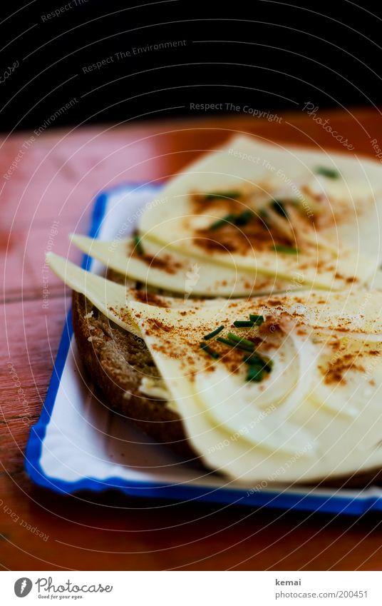 Vatertags-Käsebrot Lebensmittel Teigwaren Backwaren Brot Zwiebel Schnittlauch Paprika Zwiebelringe Ernährung Frühstück Mittagessen Abendessen Picknick