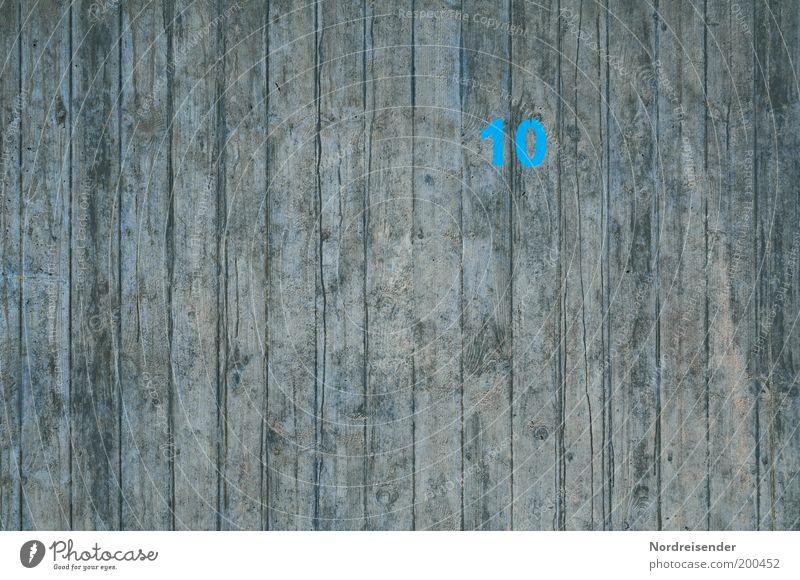 Pfeiler 10 Holz Schilder & Markierungen neu Häusliches Leben trist Industrie Baustelle Technik & Technologie Ziffern & Zahlen Bauwerk Zeichen Zaun Handwerk komplex Qualität 10