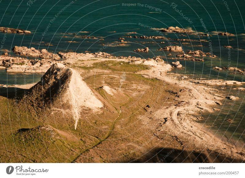 New Zealand 41 Umwelt Natur Landschaft Sand Hügel Felsen Wellen Küste Strand Bucht Meer außergewöhnlich ästhetisch Zufriedenheit Farbfoto Außenaufnahme