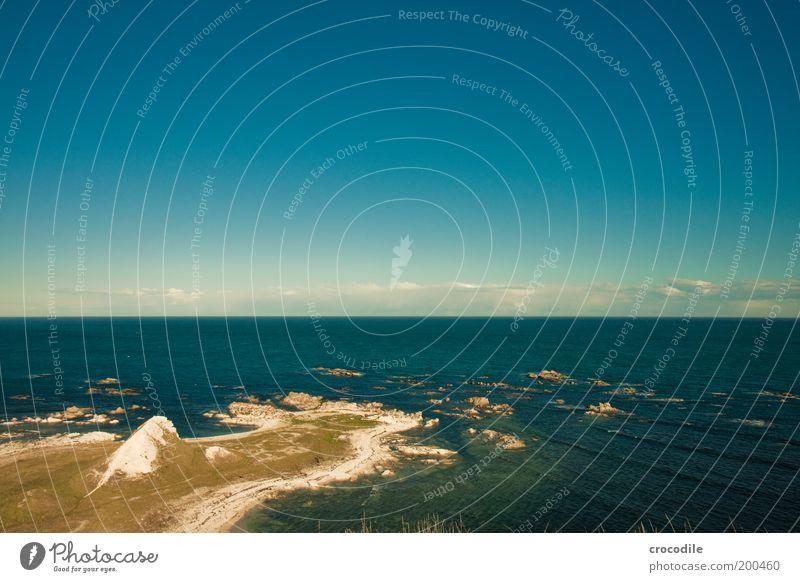 New Zealand 43 Umwelt Natur Landschaft Luft Himmel Wolken Schönes Wetter Hügel Felsen Wellen Küste Strand Meer Insel ästhetisch schön Zufriedenheit Lebensfreude
