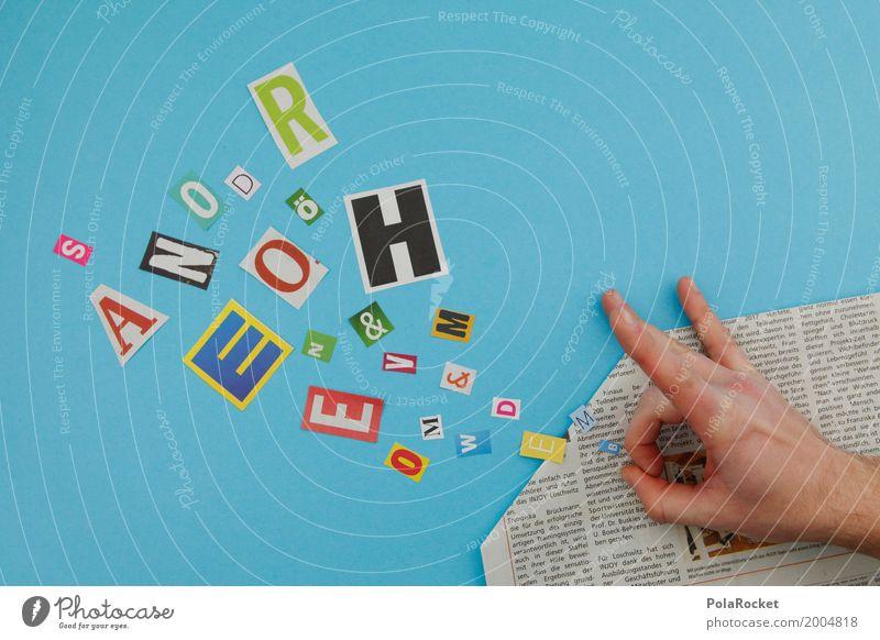 #AS# Kreatypo Kunst Kunstwerk ästhetisch Typographie gestalten Spielen Kreativität Zeitung Hand schnipsen schnippsen Buchstaben Buchstabensuppe lesen Werbung