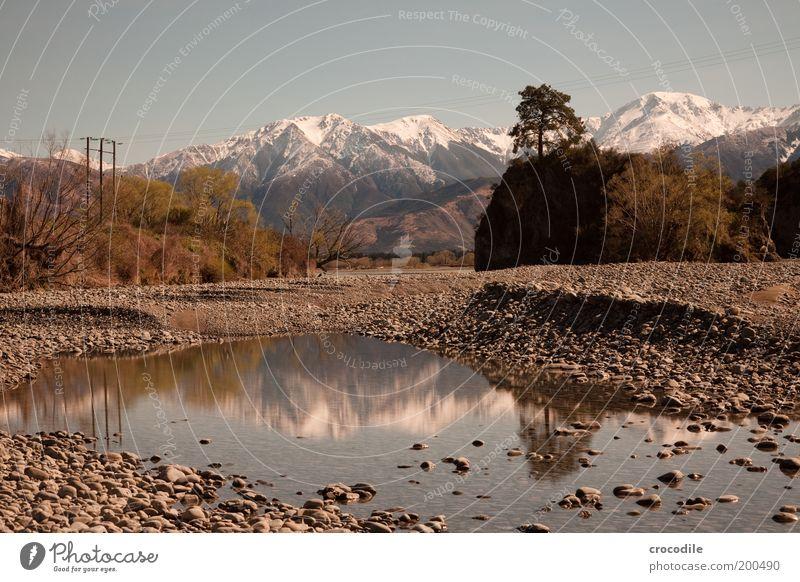 New Zealand 58 Natur Wasser Himmel Schnee Berge u. Gebirge Frühling Landschaft Stimmung Umwelt Felsen Alpen Gipfel Schönes Wetter Gletscher Spiegelbild Symmetrie