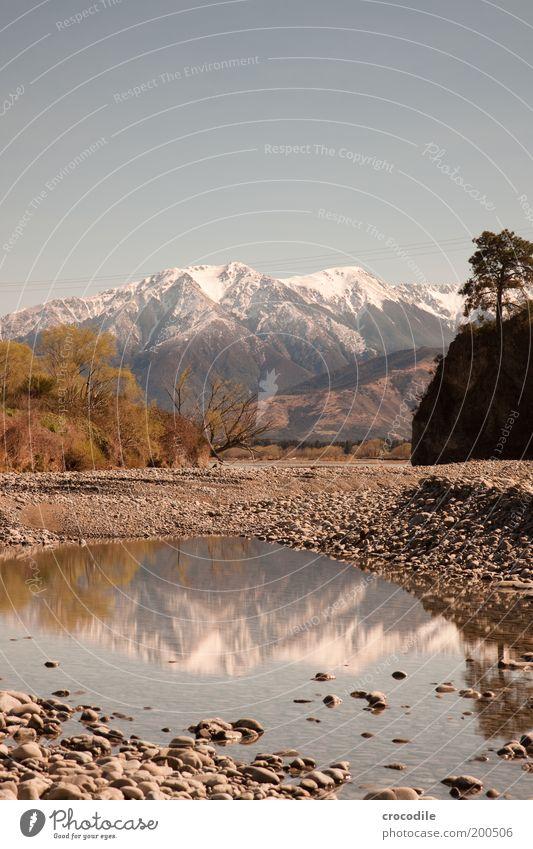 New Zealand 63 Umwelt Natur Landschaft Urelemente Erde Wolkenloser Himmel Frühling Pflanze Baum Gras Sträucher Alpen Berge u. Gebirge Gipfel