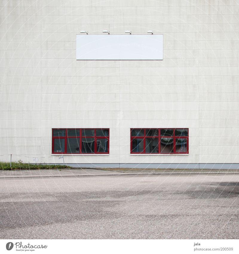 existenzgründung Fabrik Wirtschaft Industrie Handel Dienstleistungsgewerbe Mittelstand Unternehmen Haus Platz Gebäude Architektur Fassade Fenster groß grau rot
