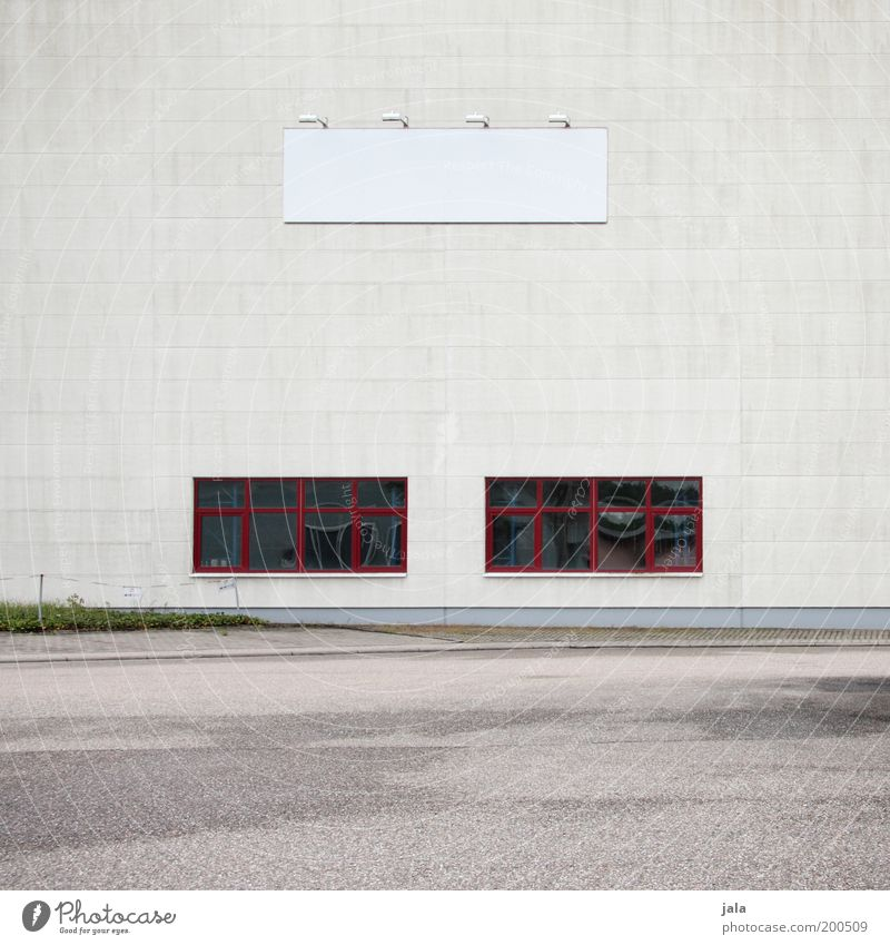 existenzgründung rot Haus Fenster grau Gebäude Architektur Schilder & Markierungen groß Fassade Industrie Platz Fabrik Dienstleistungsgewerbe Unternehmen
