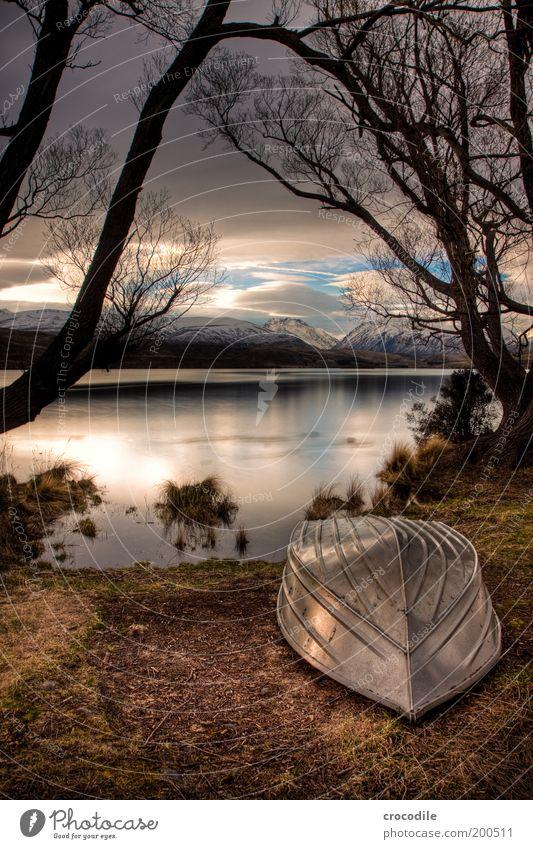 New Zealand 66 Umwelt Natur Landschaft Urelemente Gewitterwolken Winter Schönes Wetter schlechtes Wetter Alpen Berge u. Gebirge Schneebedeckte Gipfel See