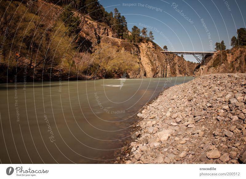 New Zealand 67 Umwelt Natur Landschaft Himmel Schönes Wetter Felsen Alpen Berge u. Gebirge Wellen Flussufer Verkehr Verkehrswege Brücke authentisch