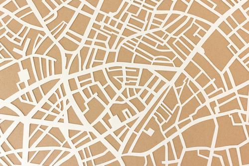 Stadtplan Struktur Design Ferien & Urlaub & Reisen Straße ästhetisch authentisch braun Neugier komplex Mobilität Ordnung Tourismus Güterverkehr & Logistik