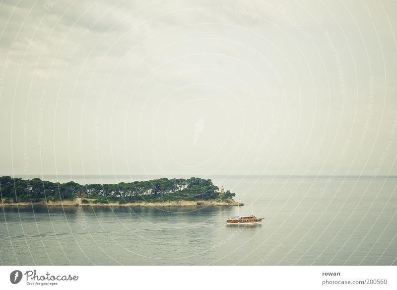 bootsfahrt Ferien & Urlaub & Reisen Tourismus Ausflug Ferne Kreuzfahrt Expedition Umwelt Natur Wasser Wolkenloser Himmel Nebel Baum Küste Meer Insel Fluss
