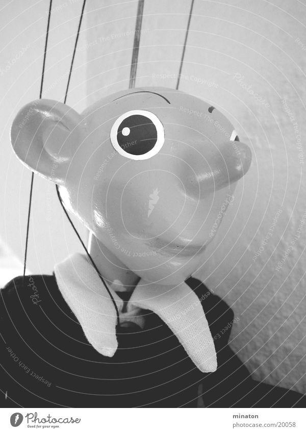 Spejbl Marionette Porträt Grauwert Freizeit & Hobby Puppe Makromodus