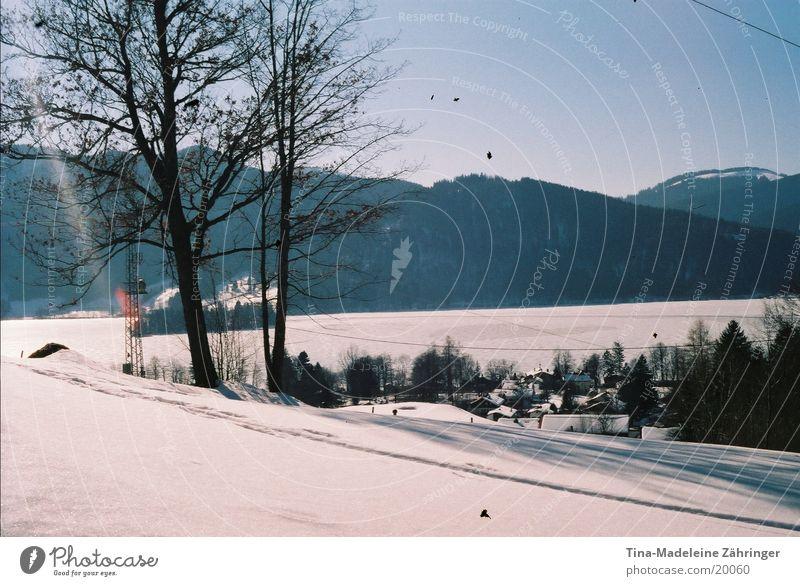 Winterlandschaft Winter ruhig Schnee Erholung Berge u. Gebirge Schneelandschaft Schneewandern