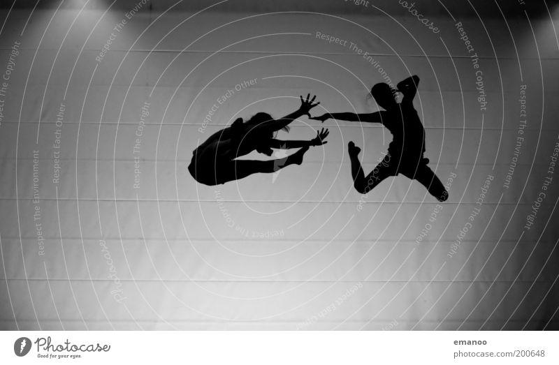 airdance Lifestyle Freude Freiheit Tanzen Sport Mensch feminin Junge Frau Jugendliche Freundschaft Paar Körper 2 Bewegung fliegen springen hoch Zusammensein