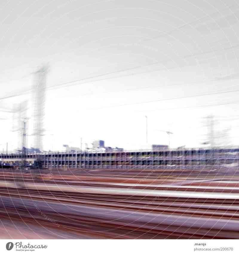 Zwischen hier und dort Ferien & Urlaub & Reisen Ferne Bewegung Wege & Pfade Geschwindigkeit Ausflug Industrie fahren Güterverkehr & Logistik Gleise Stress