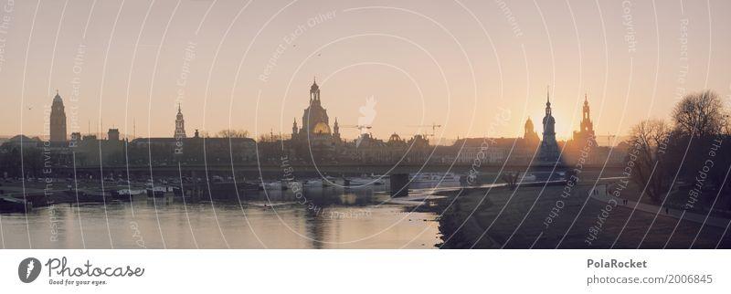 #A# Dresden BigTime Deutschland ästhetisch Sehenswürdigkeit Panorama (Bildformat) Hauptstadt Gemälde Altstadt Städtereise Sachsen verträumt Elbe Barock Elbufer
