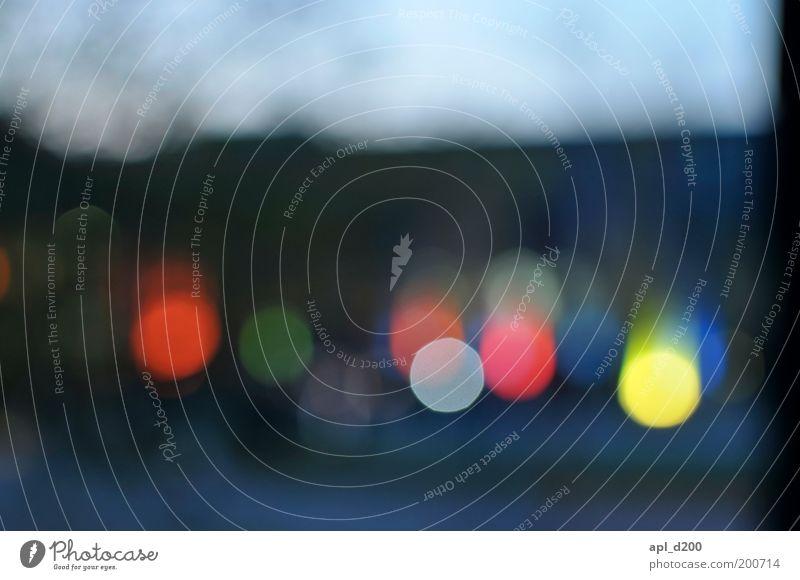 Lichterkette blau grün rot gelb Lampe Feste & Feiern rosa Fröhlichkeit außergewöhnlich leuchten Laterne Veranstaltung abstrakt Nachtleben