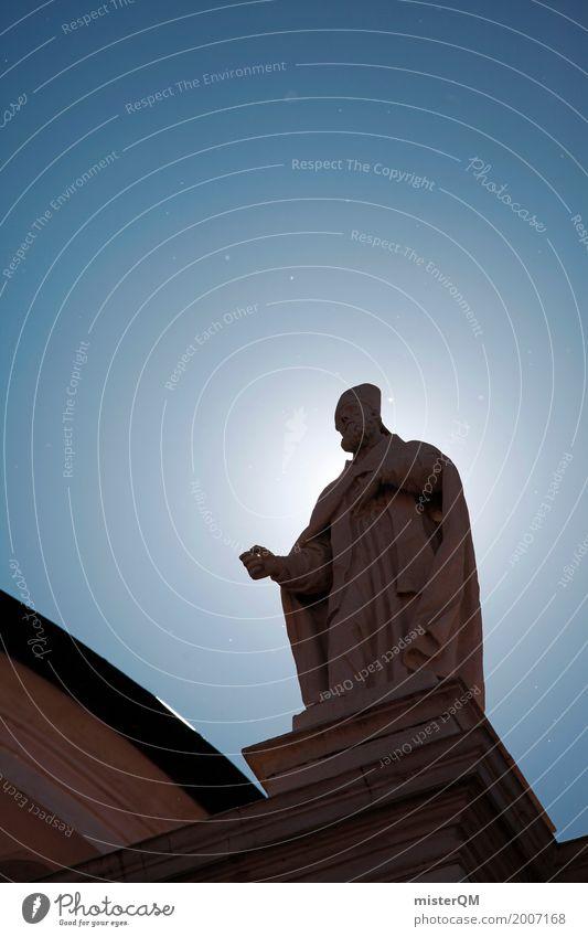 Holy Guy. Religion & Glaube Kunst Kirche ästhetisch Statue himmlisch Blauer Himmel Glaubensfeldzug