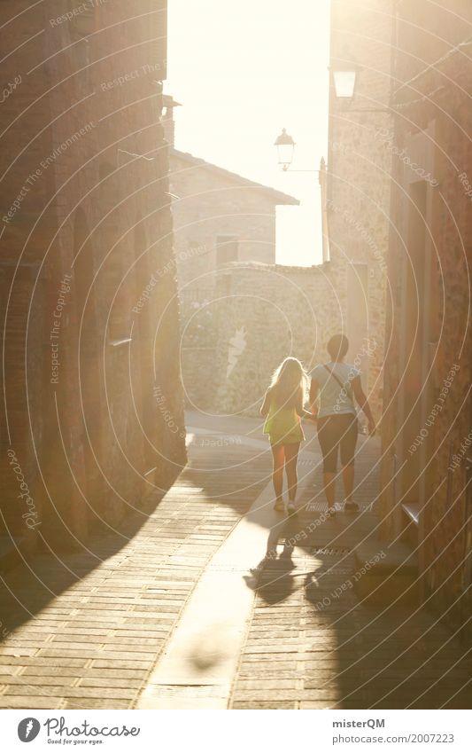 Gassenromantik. Kunst Kunstwerk ästhetisch Romantik Italien Sonnenstrahlen Ferien & Urlaub & Reisen Urlaubsfoto Urlaubsstimmung Urlaubsort Urlaubsverkehr