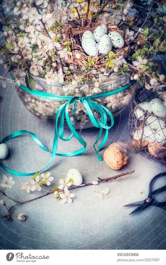 Ostern Zeit Stil Design Freude Häusliches Leben Wohnung Innenarchitektur Dekoration & Verzierung Feste & Feiern Natur Pflanze Frühling Blume Blumenstrauß Liebe