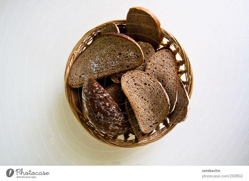 Schimmliges Brot again Ernährung Bioprodukte dehydrieren Appetit & Hunger Müll Biomüll Brotkorb Scheibe Kohlenhydrate hart Ecke Schimmelpilze verdorben ungesund