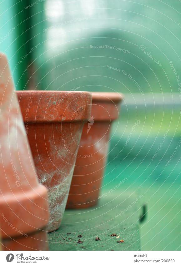 Zeit für Gartenarbeit grün leer Blumentopf Unschärfe Tontopf