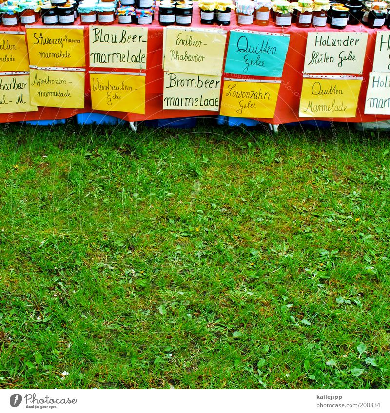brotaufstrich Lebensmittel Ausflug Ernährung Bioprodukte Wirtschaft Handel Etikett verkaufen nachhaltig Produktion Angebot selbstgemacht Schreibwaren Ferien & Urlaub & Reisen mehrfarbig Marmelade