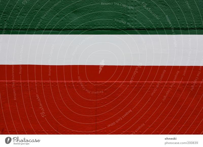 Koalitionsverhandlungen weiß grün rot Farbe Linie Metall Streifen Wasserfahrzeug Bildausschnitt Niete Nordrhein-Westfalen Bordwand Linkskoalition