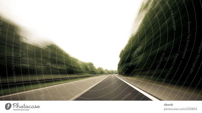 time to go Verkehr Verkehrswege Straßenverkehr Autofahren Autobahn Geschwindigkeit Stress Zeit Farbfoto Bewegungsunschärfe Eile